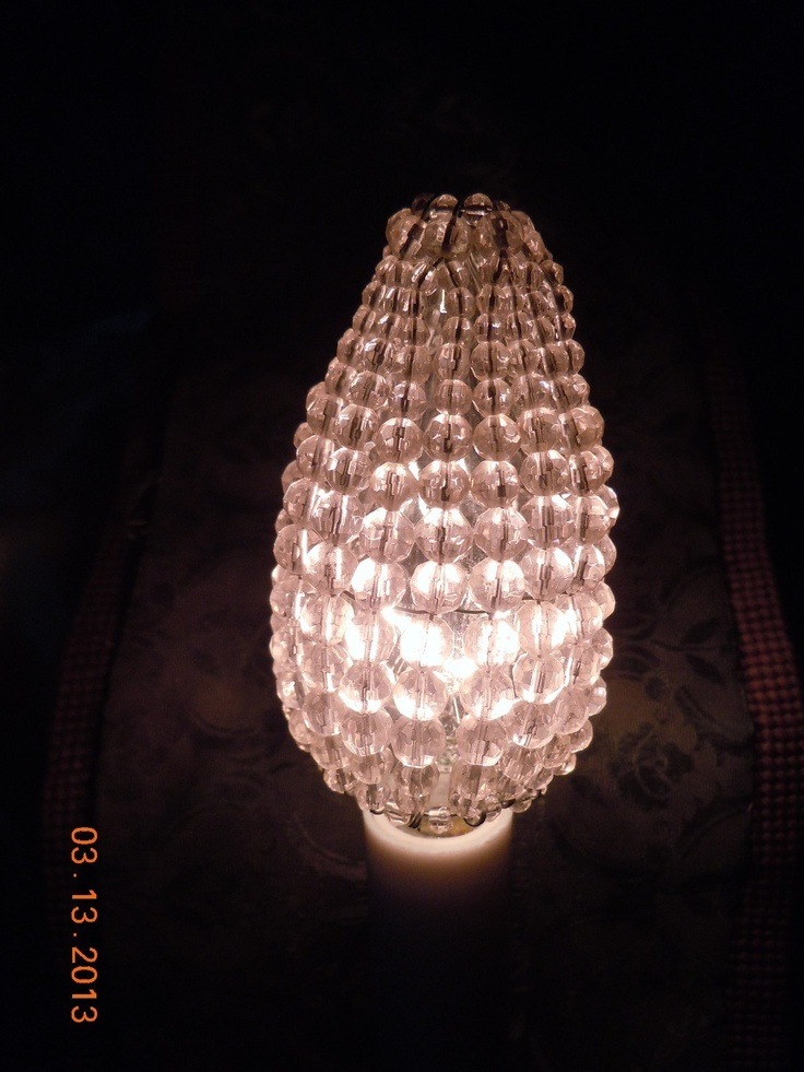 50 best vintage beaded bulb covers images on pinterest bulb bulbs sale gorgeous pink beaded chandelier sconce bulb covers set of 6 ebay aloadofball Image collections