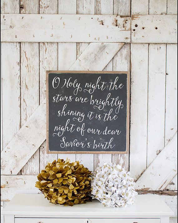 NEW & JUST LISTED!! o holy night framed sign by TheHouseofBelonging on Etsy, $100.00