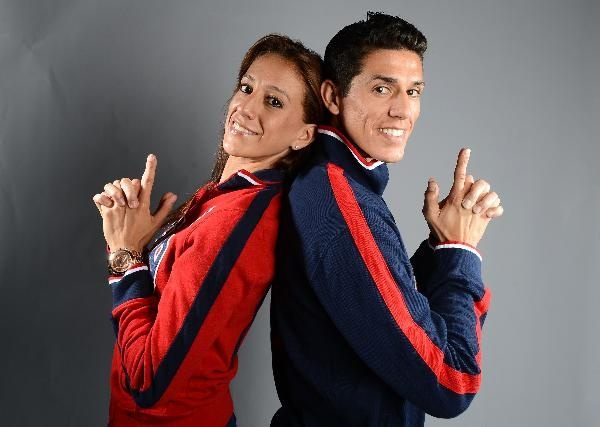 Siblings Diana Lopez and Steven Lopez of the US Taekwondo