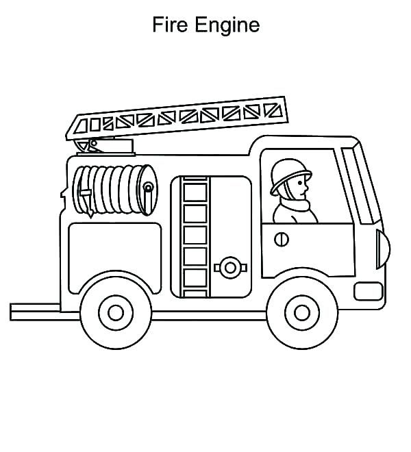 Use Fire Truck Coloring Page As A Medium To Learn Color Truck