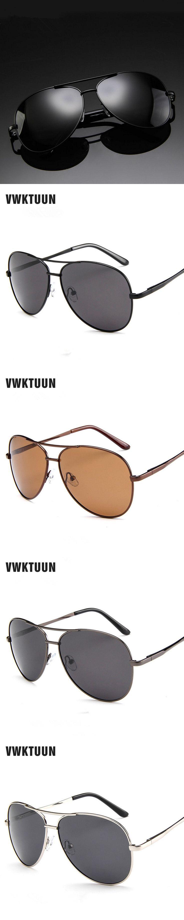 VWKTUUN Pilot Polarized Sunglasses Men Drivier Fishing Sun glasses For Mens Sports Outdoor Eyewear HD Lens Goggles Sun Shades