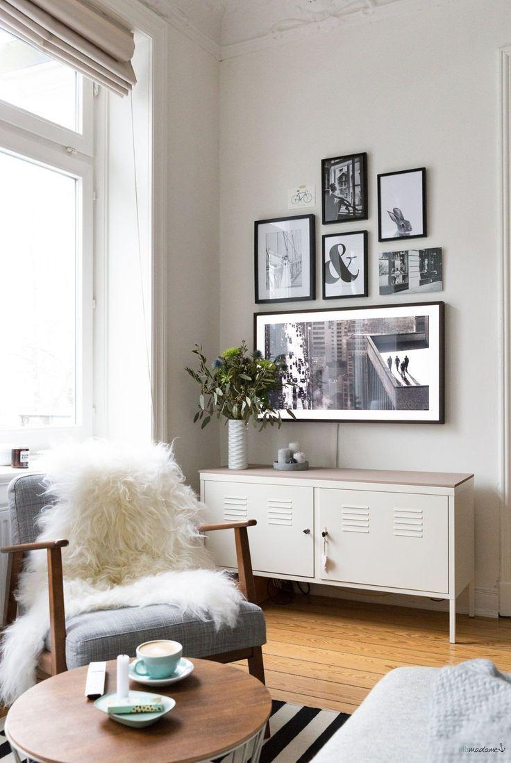 So versteckst du deinen Fernseher im Wohnzimmer   Salon télé ...