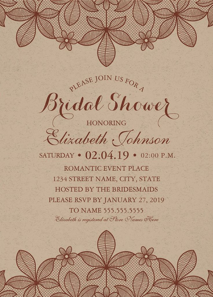 48 best bridal shower invitations images on pinterest bachelorette kraft paper rustic bridal shower invitations vintage country lace cards filmwisefo