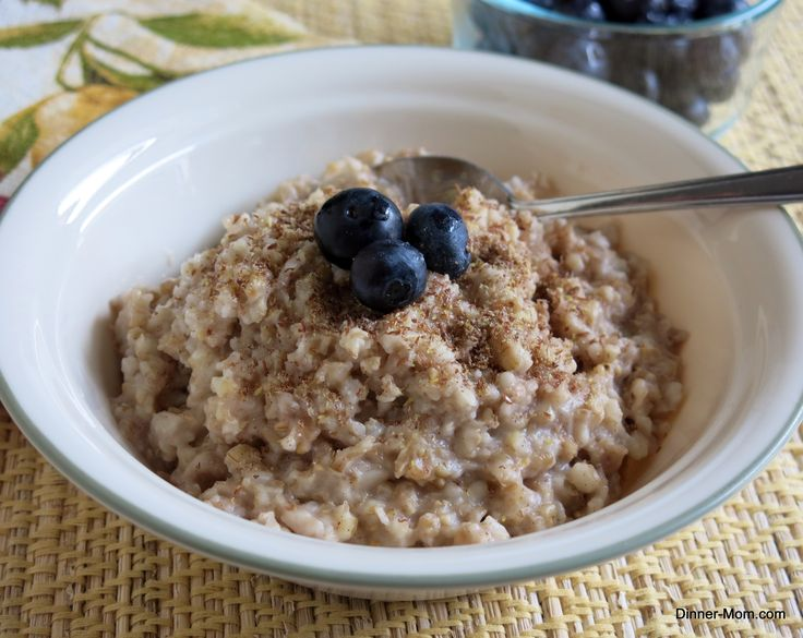 Directions to cook steel cut oatmeal overnight in a crock pot #overnightoatmeal #steelcutoatmeal #breakfastrecipes