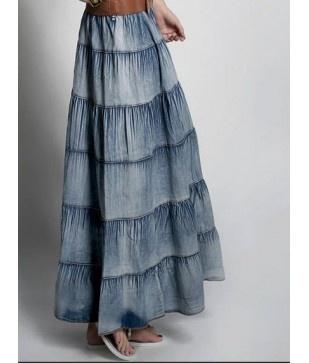Long jean skirt fav