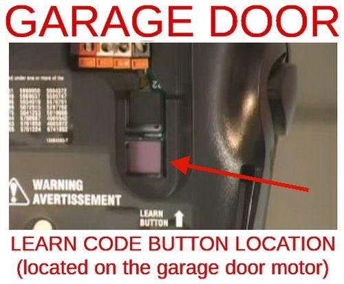 Location Of Garage Door Opener Learn Button For Changing Garage Door Code Cleaning Pinterest Garage Door Opener It Is And Code For