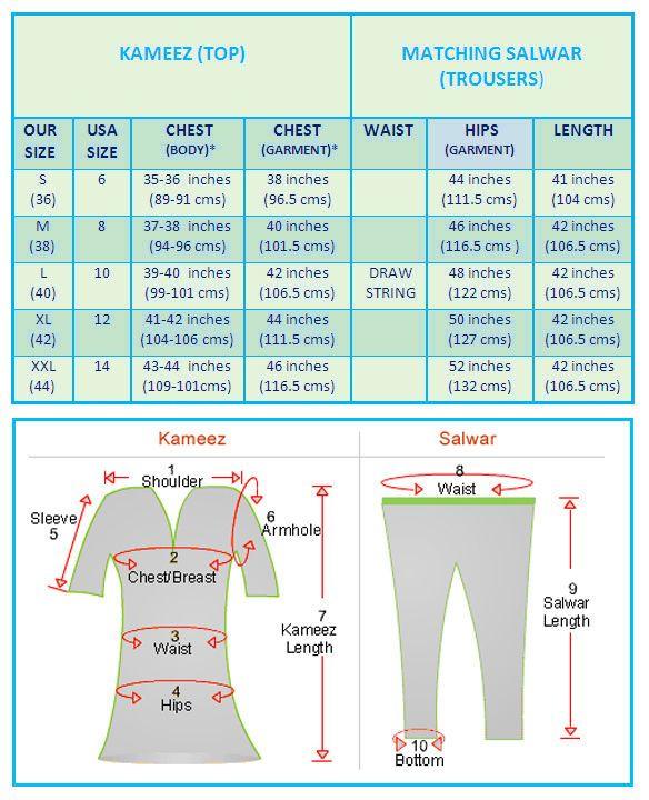 Salwar Kameez Stitching Custom Measurement Stitching Service Indian Salwar Suit