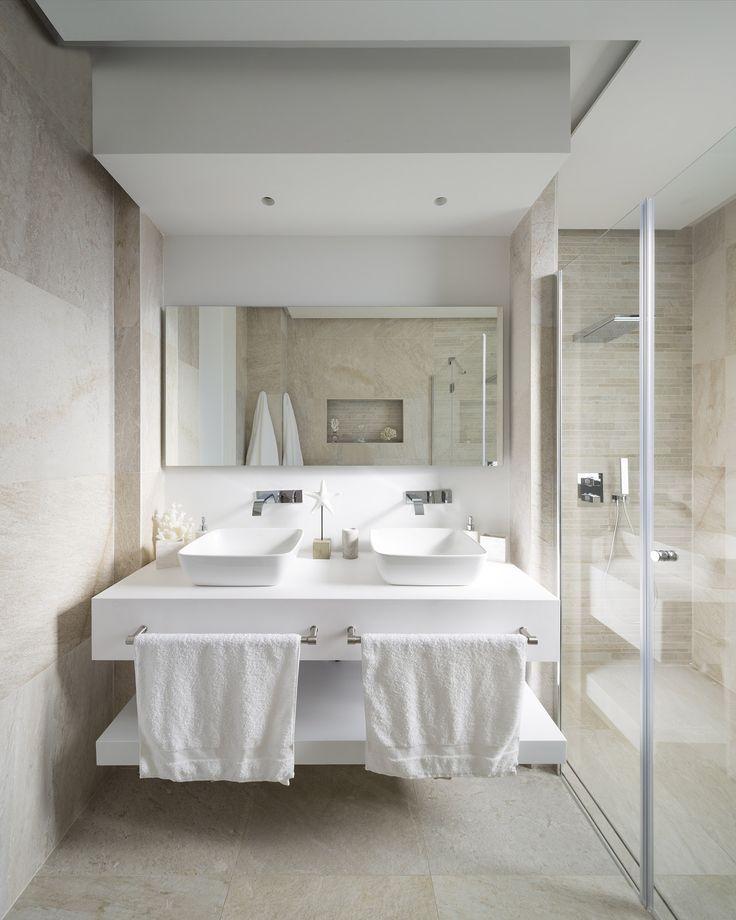 Las 25 mejores ideas sobre lavabo doble en pinterest y m s - Lavabos dobles sobre encimera ...