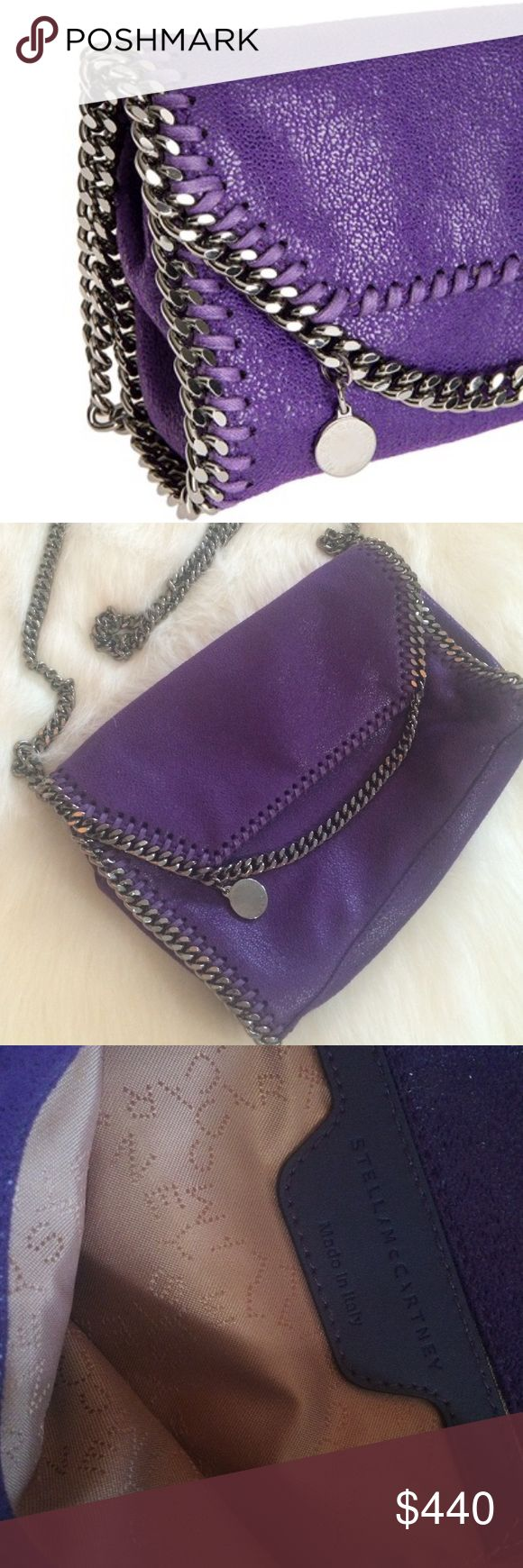 Stella McCartney Falabella Purse Authentic. Only used once. Purple with gunmetal hardware. I do not have a Stella McCartney dustbag but I'd be happy to ship the purse in a Tory Burch dustbag upon request. Stella McCartney Bags