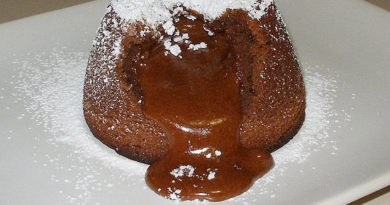 Made this - very easy, pretty and so good! Molten Chocolate Cakes for Two (or one chocoholic)  This small batch recipe for individual molten chocolate cakes, makes two cakes in about 20 minutes. Quick. Chocolate. Fix.