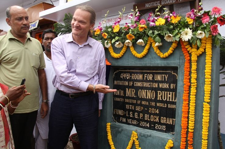 "Mr. Onno Ruhl initiated the construction work of Chandipur Gram Panchayat's new initiative ""Ekota"" Room for Unity."