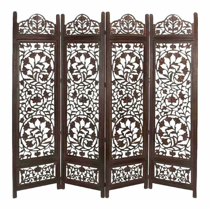 metro wood 4 panel screen in antique brown room dividersthe roomscreens