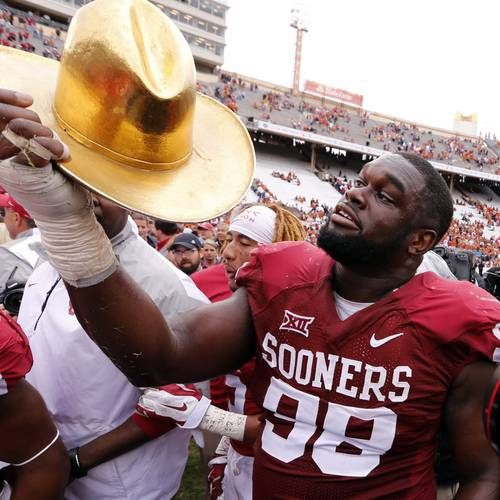 SBNation.com went through quite a process to rank the top rivalry game trophies in college football. Guess which one came out on top?   That's right. That amazing Golden Hat. SBNation.com isn't saying that OU-Texas is the best rivalry in college football right now, but the Golden Hat is the No. 1 trophy according to their admittedly subjective rankings.    The website used specific criteria to award the Golden Hat a composite score of 86.30, which bested the second-place Jeweled Shillelagh…