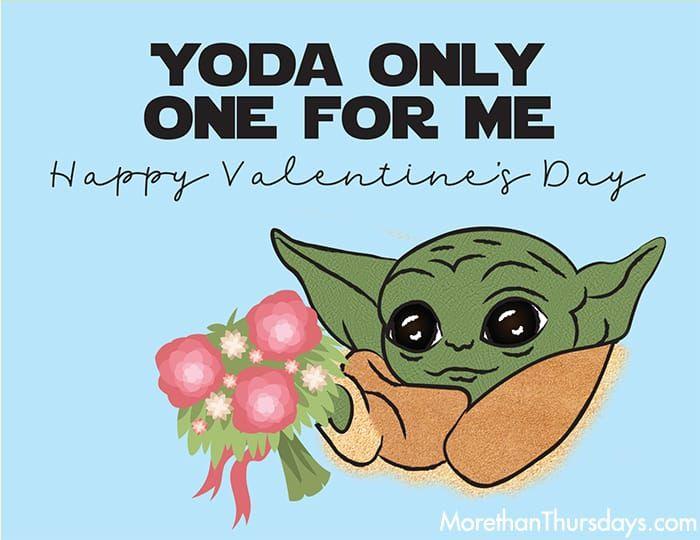 Free Baby Yoda Valentine Printable Starwars Themandalorian Valentinesday Babyyoda Thechild Valentines Printables Valentines Memes Yoda Valentine Cards