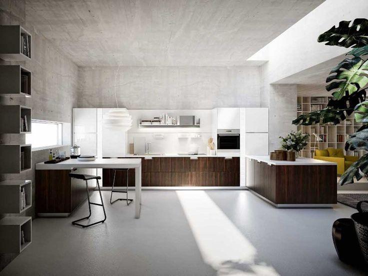 Modular kitchen with island LUX by Snaidero   design Pietro Arosio