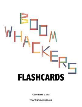 Boomwhackers Flashcards - Claire Burns - TeachersPayTeachers.com