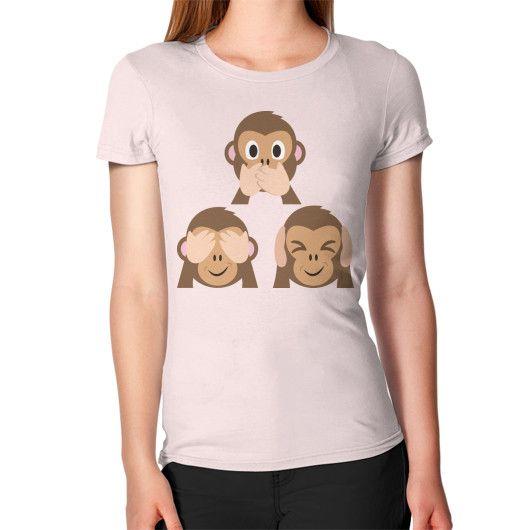 Evil Monkey Emoji Women's T-Shirt