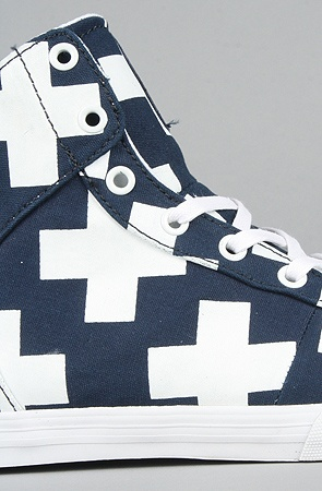 Supra  The Cuttler Sneaker in Navy and White Plus