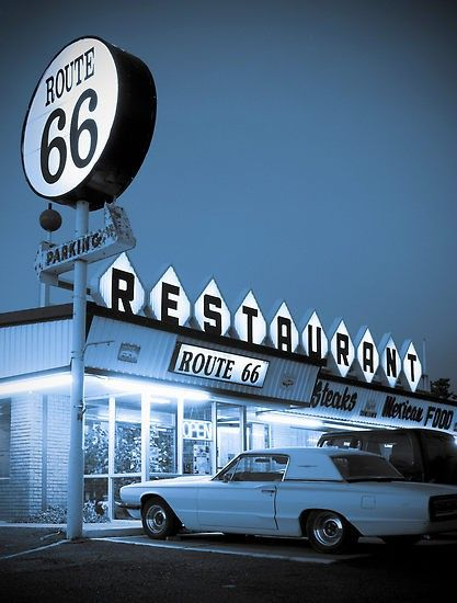 Route 66, in the 50s.