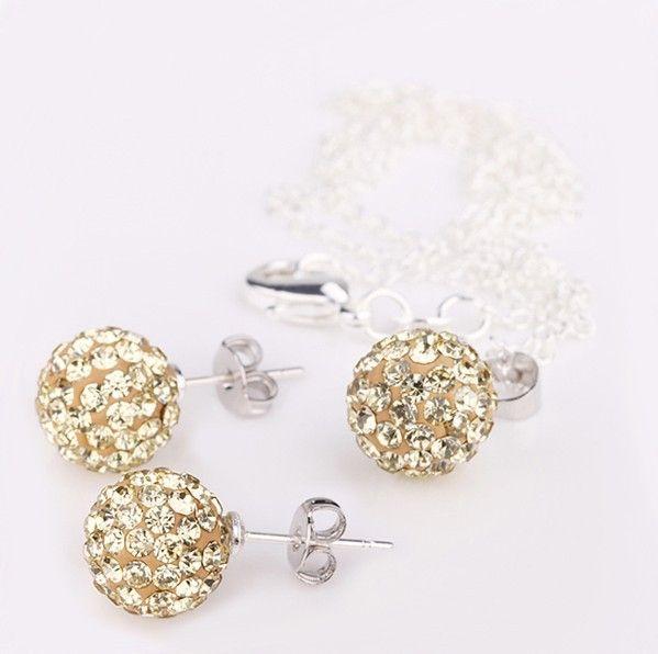 Yashow мода шамбалы устанавливает шамбалы подвесками и микро-проложить CZ дискотечный шар бусины шамбалы ожерелья SHSE005