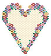 Heart (Brick stitch) by Charley Hughes AKA BeadyBoop
