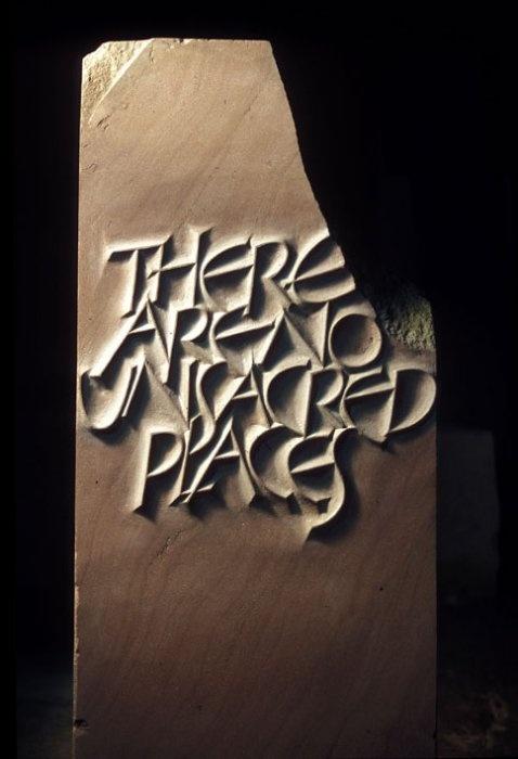 John neilson letter carving in stone calligraphy