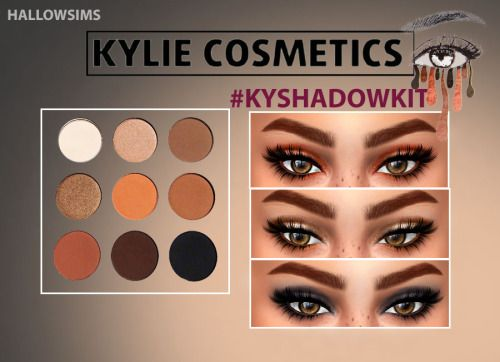 Sims 4 Updates: Hallow Sims - Make Up, Eyeshadow : KYSHADOW KIT UPDATED VERSION, Custom Content Download!