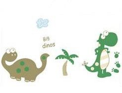 Dinosaurs wall sticker - peel and stick. Visit www.theprettycollection.co.za for more information or email info@theprettycollection.co.za