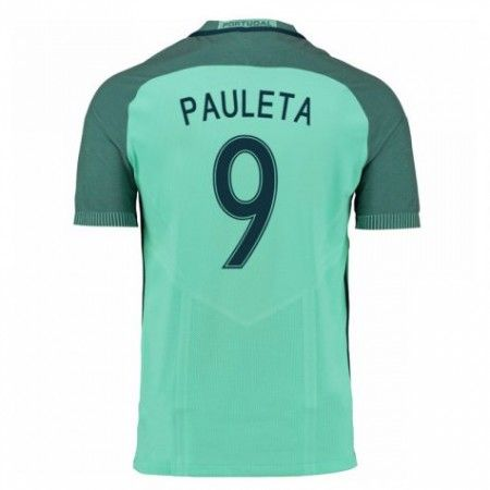 Portugal 2016 Pauleta 9 Bortedraktsett Kortermet.  http://www.fotballteam.com/portugal-2016-pauleta-9-bortedraktsett-kortermet.  #fotballdrakter