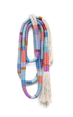 Alicia Scardetta, Lariat Two Strand, 2017, wool and cotton rope