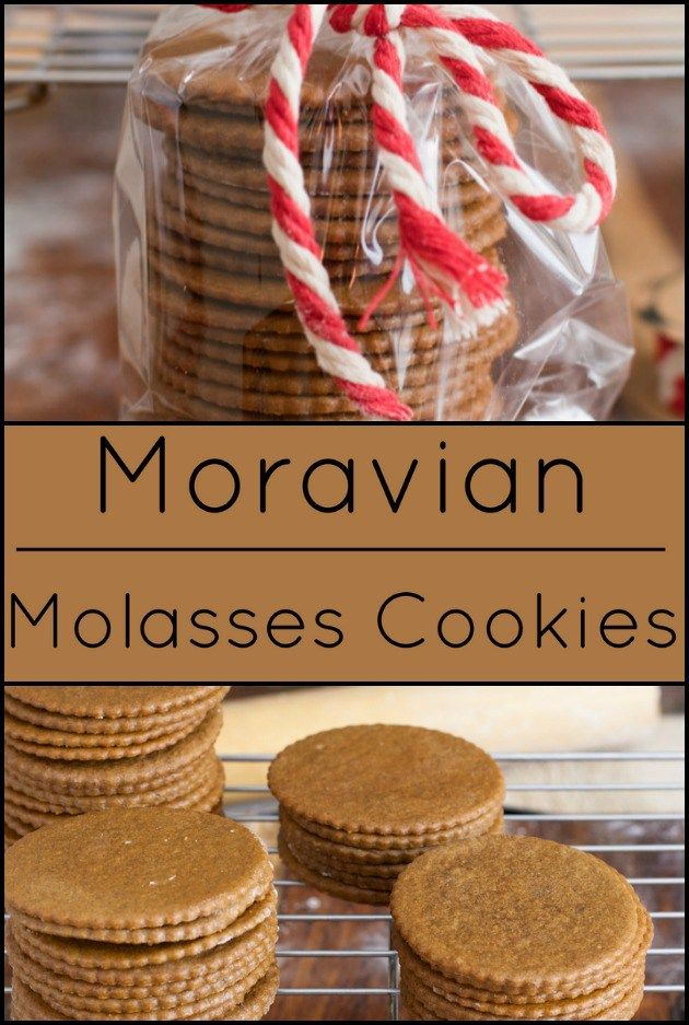Moravian Molasses Cookies. A classic Czech cookie.