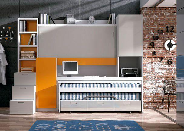 Habitación con mueble compacto autoportable