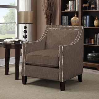 Shop for Portfolio Rome Chocolate Brown Linen Arm Chair . Get free shipping at Overstock.com - Your Online Furniture Outlet Store! Get 5% in rewards with Club O!