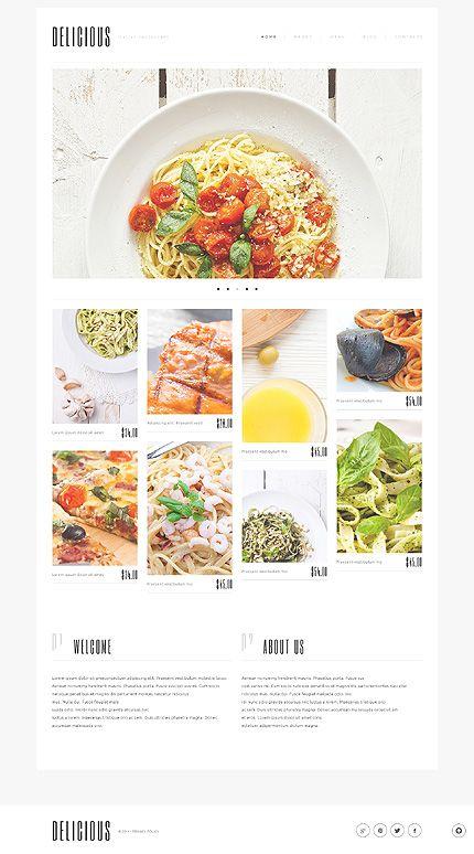 Template 50762 - Restaurant  Responsive WordPress  Theme