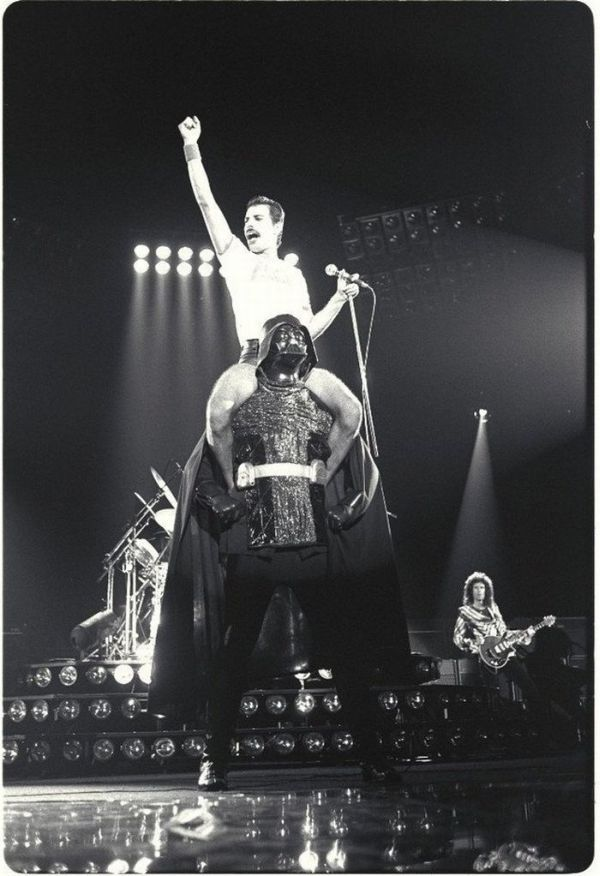 Freddie Mercury and Darth Vader.