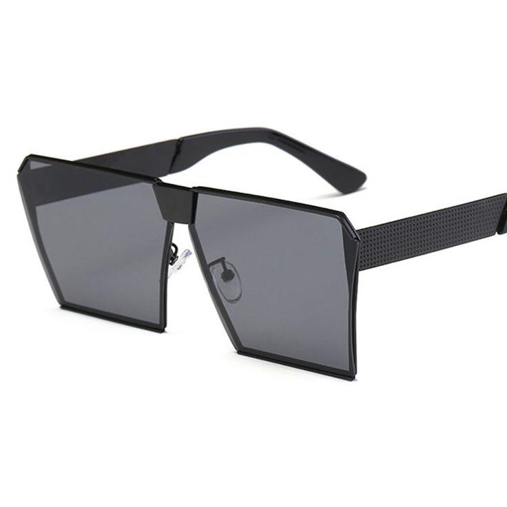 YOJBO Fashion Square Vintage Women Sunglasses Oversized Brand Designer Men Glasses 100% UV400 HD Polarized Sunglasses Big Frame