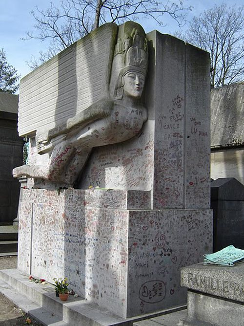 Oscar Wildes Grave at Pere Lachaise