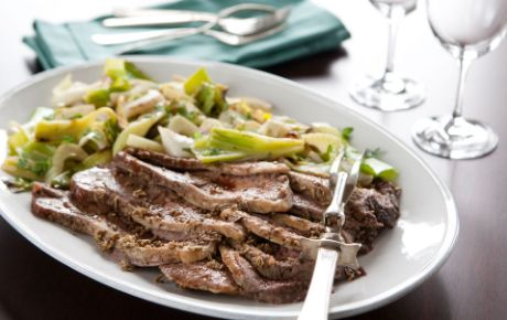 The classic pairing of lamb and mint gets another layer of flavor with the addition of spring onions or leeks.