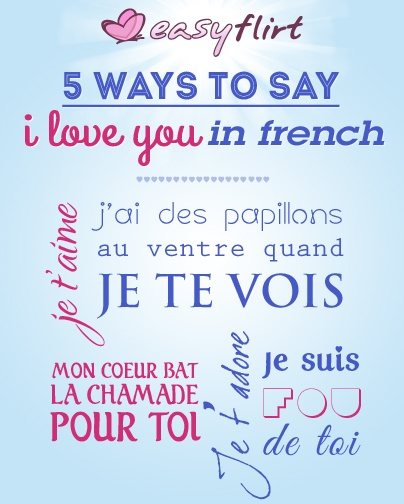 How To Say I Love U In France
