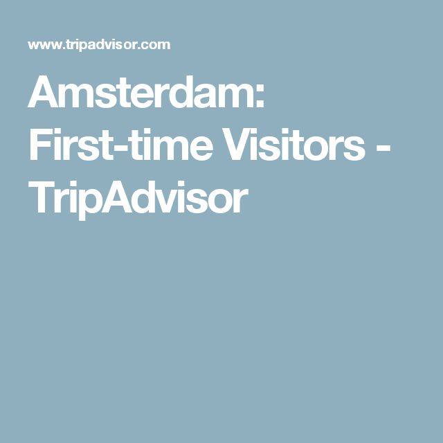Amsterdam: First-time Visitors - TripAdvisor