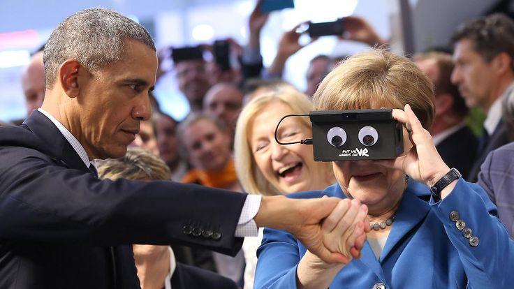 """""""Kaufen Sie 'Made in America'"""": Obama zeigt sich patriotisch auf der Hannover Messe"""