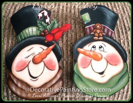 snowman tole paintings free | The Decorative Painting Store: Frosty & Flakey Pattern, Newly Added ...