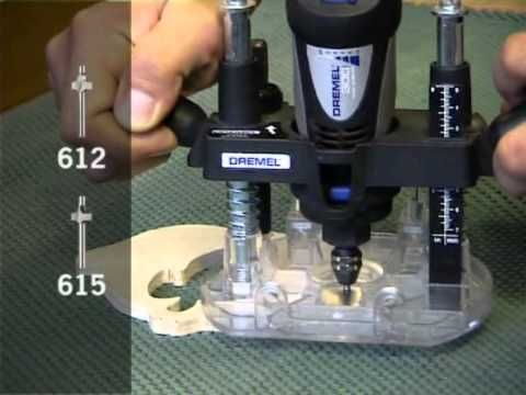 How to use Dremel Plunge Router Attachment - Origo DIY Tools - YouTube