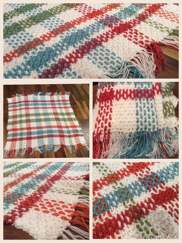 Contemporary Plaid Crochet Afghan Pattern Classic