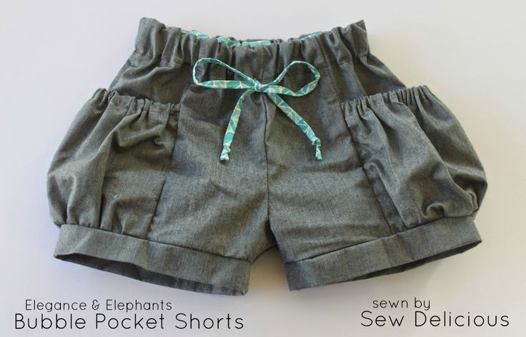 Sew Delicious: Bubble Pocket Shorts : Shorts on the Line