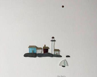 12 von 16 Meer Seite Kunst mit Kieselsteinen Meer Glas und