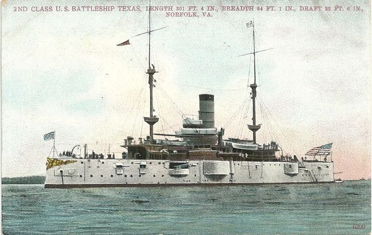 Printed Postcard 7932 Divided Back Unposted U S Navy Battleship USS Texas