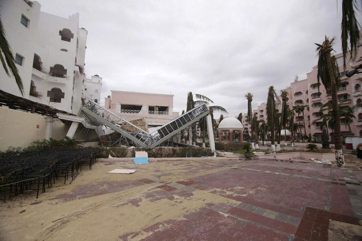 View of the damage caused by Hurricane Odile in the port of Los Cabos, Baja California, Mexico on Sept. 15, 2014.