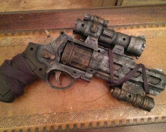 STEAMPUNK gun Red Nerf Recon toy gun For cosplay