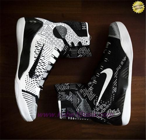 65% Discount Nike Kobe 9 Elite Cheap sale BHM Black White 704304